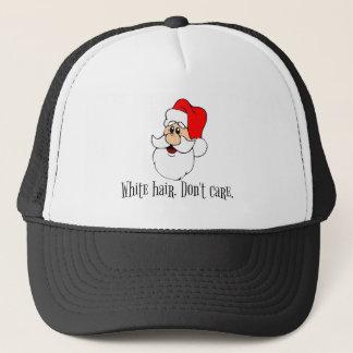 Gorra De Camionero El pelo blanco lindo de Papá Noel no cuida navidad