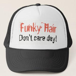 Gorra De Camionero El pelo enrrollado no cuida humor del día