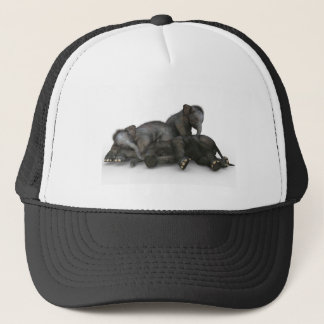 Gorra De Camionero el pequeño jugar lindo de los elefantes del bebé