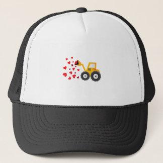 Gorra De Camionero El regalo de los corazones del tractor del el día