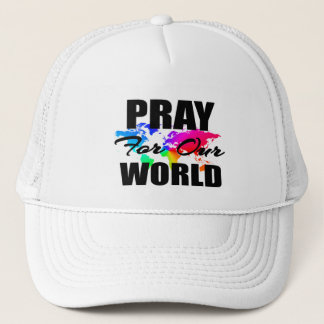Gorra De Camionero El rezo cristiano del mundo de la fe ruega para