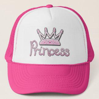 Gorra De Camionero El rosa lindo impreso gotea a princesa Crown