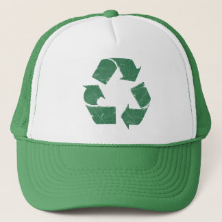 Gorra De Camionero El verde del vintage recicla la muestra