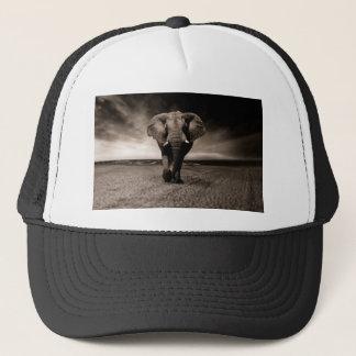 Gorra De Camionero Elefante blanco y negro