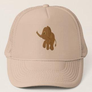 Gorra De Camionero Elefante del bebé del oro que mira en el cielo