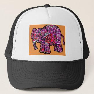 Gorra De Camionero elefante enrrollado vivo de la pintada