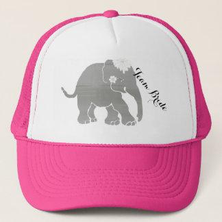 Gorra De Camionero Elefante gris precioso del vintage de la novia del