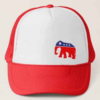 Gorra De Camionero Elefante rojo, blanco y azul