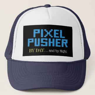 Gorra De Camionero Empujador divertido del pixel