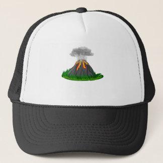Gorra De Camionero erupción y fuego del volcán