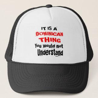 GORRA DE CAMIONERO ES DISEÑOS DOMINICANOS DE LA COSA