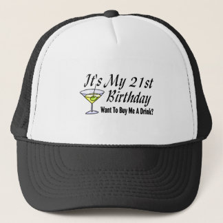 Gorra De Camionero Es mi 21ro cumpleaños