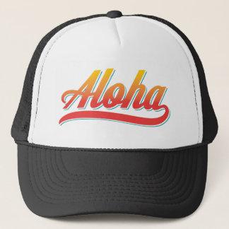Gorra De Camionero Escritura de la hawaiana (naranja y trullo)