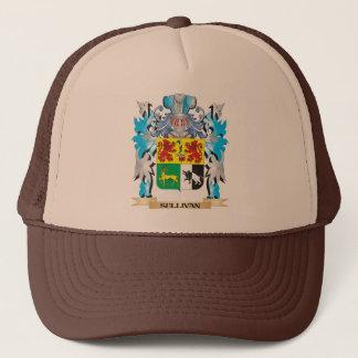 Gorra De Camionero Escudo de armas de Sullivan - escudo de la familia
