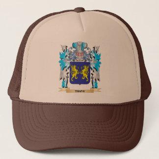 Gorra De Camionero Escudo de armas de Troy - escudo de la familia