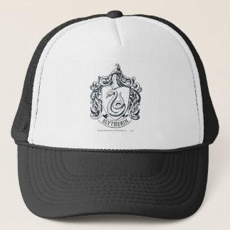Gorra De Camionero Escudo de Harry Potter el | Slytherin - blanco y