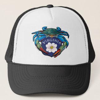 Gorra De Camionero Escudo del flor del Dogwood de Virginia del