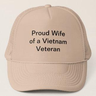 Gorra De Camionero Esposa orgullosa de un veterano de Vietnam