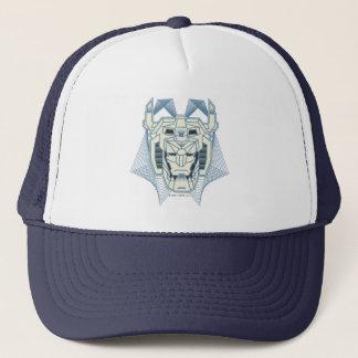 Gorra De Camionero Esquema azul de Voltron el   Voltron y blanco