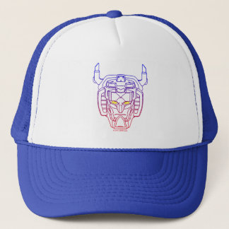 Gorra De Camionero Esquema Azul-Rojo de la cabeza de la pendiente de