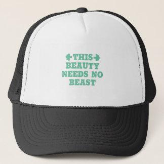 Gorra De Camionero Esta belleza no necesita ninguna bestia