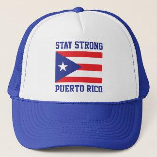 Gorra De Camionero Estancia Puerto Rico fuerte después del huracán