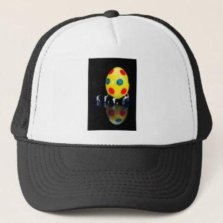 Gorra De Camionero Estatuillas miniatura que pintan el huevo de