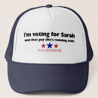Gorra De Camionero Estoy votando por Sarah