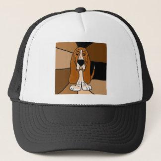 Gorra De Camionero Extracto adorable del arte del perro de Basset