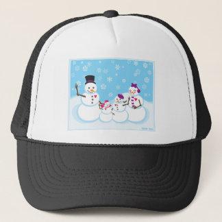 Gorra De Camionero Familia de la nieve del invierno