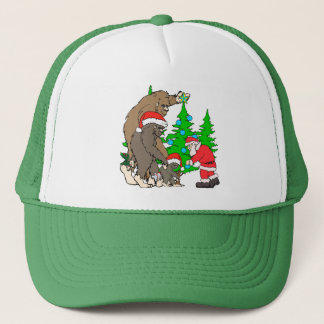 Gorra De Camionero Familia y Santa de Bigfoot