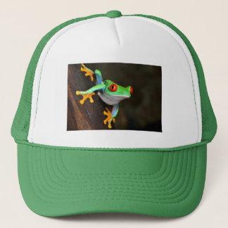 Gorra De Camionero Fauna de la naturaleza de la rana verde
