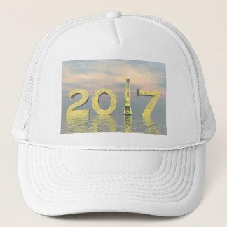 Gorra De Camionero Feliz Año Nuevo 2017 del zen - 3D rinden