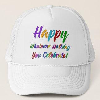 Gorra De Camionero ¡Feliz colorido cualquier día de fiesta usted