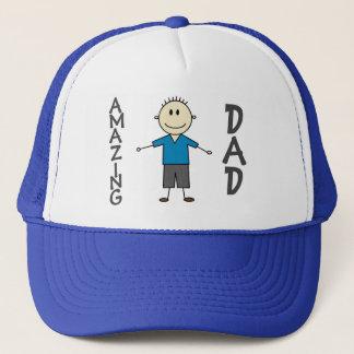 Gorra De Camionero Figura sonriente del palillo del muchacho de la