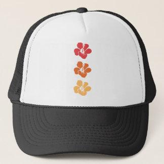 Gorra De Camionero Flores coloridas del hibisco