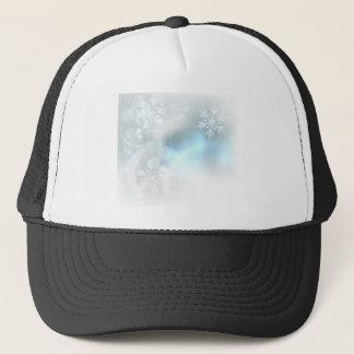 Gorra De Camionero Fondo de los cristales de hielo de los copos de