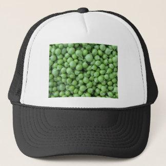 Gorra De Camionero Fondo del guisante verde. Textura de guisantes
