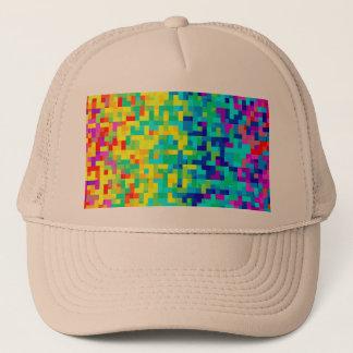 Gorra De Camionero Fondo inconsútil del modelo del pixel como