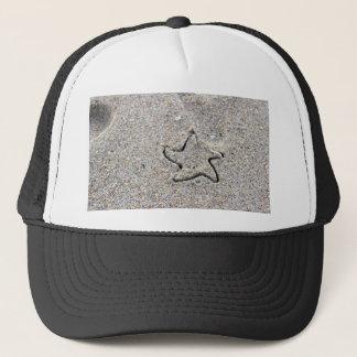 Gorra De Camionero Forma de la estrella creada en la arena