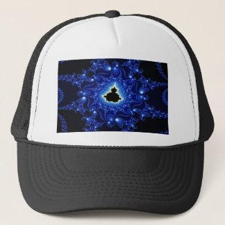 Gorra De Camionero Fractal negro y azul de Mandelbrot