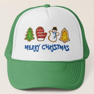 Gorra De Camionero Galleta de las Felices Navidad de Bell del muñeco