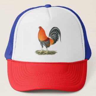 Gorra De Camionero Gallo del rojo azul del gallo de pelea