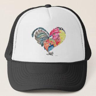 Gorra De Camionero Gallo Heartimal del amor de Kauai