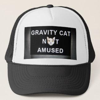 Gorra De Camionero gato de la gravedad no divertido