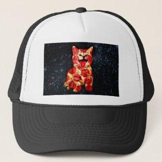Gorra De Camionero gato de la pizza - gatito - minino