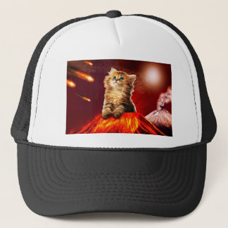 Gorra De Camionero gato del volcán, gato vulcan,