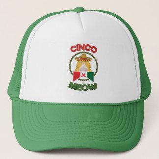 Gorra De Camionero Gato divertido para el día de fiesta del mexicano