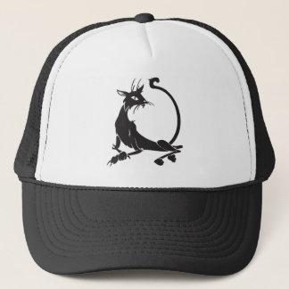 Gorra De Camionero Gato negro de relajación