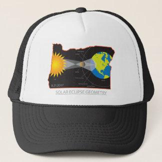 Gorra De Camionero Geometría del eclipse solar 2017 a través de las